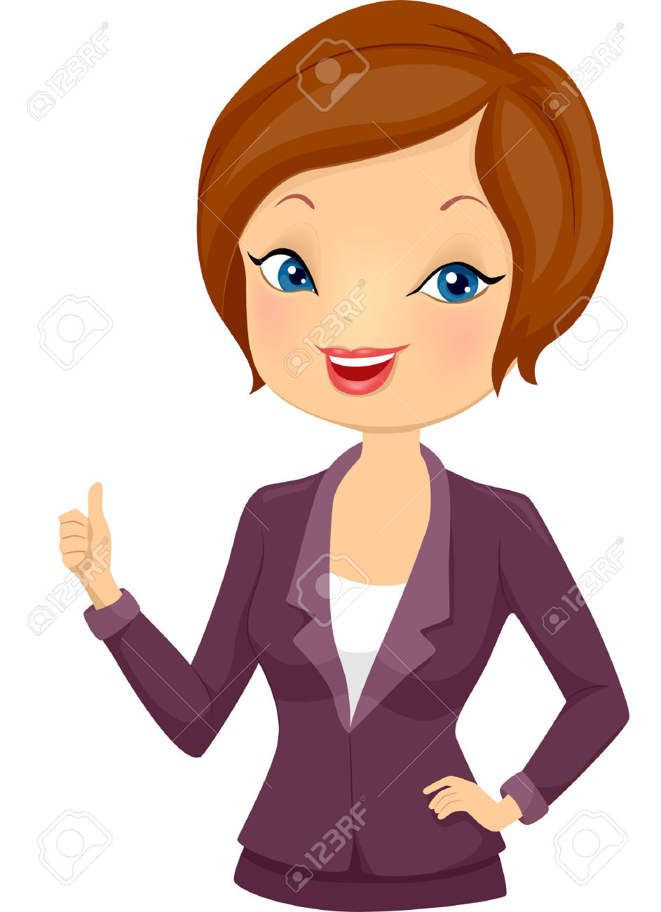 Girl giving thumbs up clipart image freeuse library Illustration Of A Girl In Corporate Attire Giving A Thumbs Up ... image freeuse library