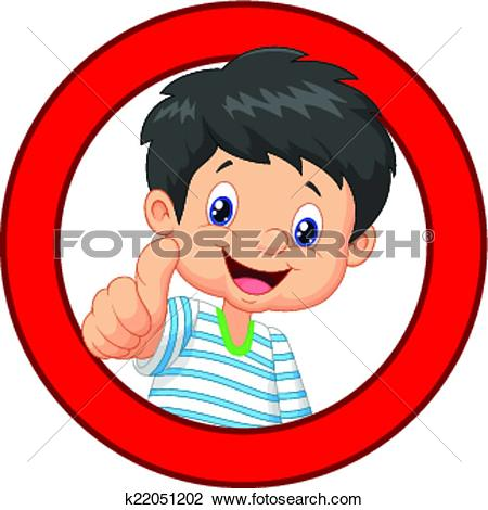 Girl giving thumbs up clipart jpg royalty free Clipart of Cartoon boy and girl giving thumb u k22051172 - Search ... jpg royalty free