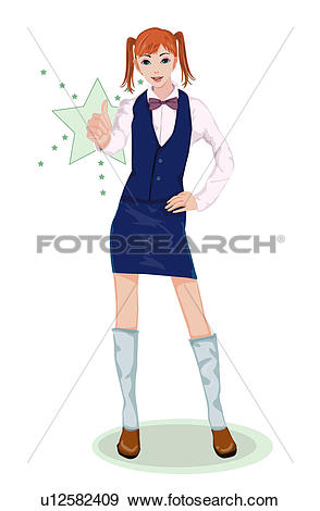 Girl giving thumbs up clipart jpg transparent Stock Illustration of Girl giving thumbs up u12582409 - Search ... jpg transparent