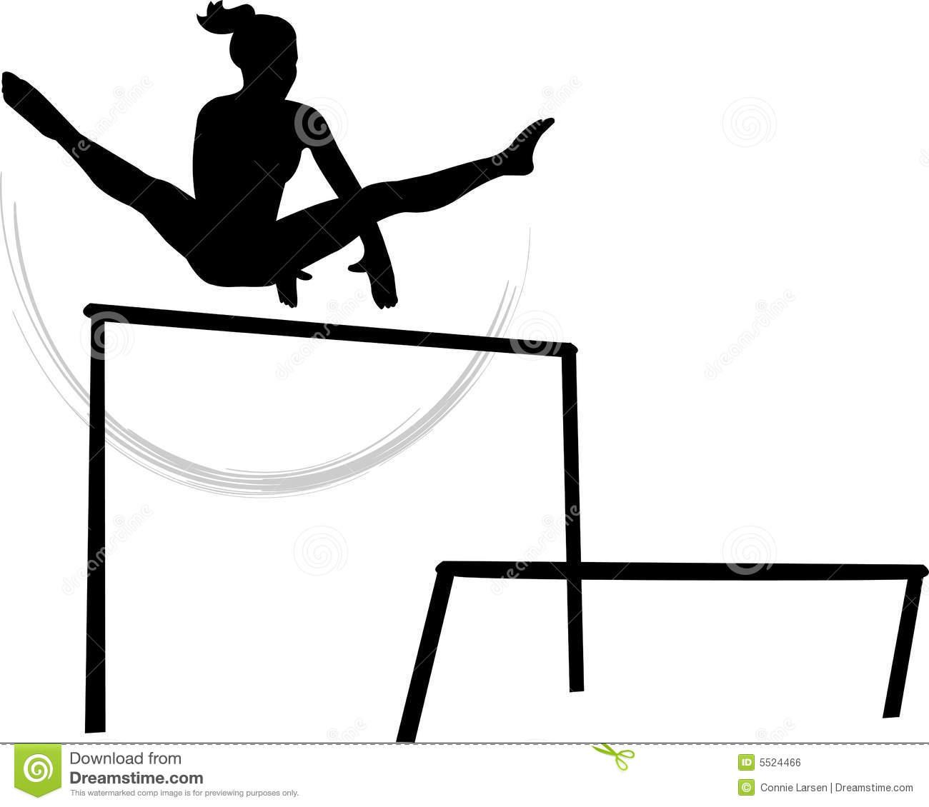 Girl gymastics vault clipart svg black and white library Gymnastics Bars Clipart - Clipart Kid svg black and white library