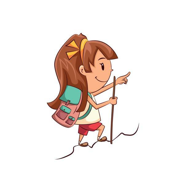 Girl hiking clipart image royalty free stock Girl hiking clipart » Clipart Portal image royalty free stock