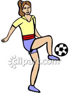 Girl hitting soccer ball clipart banner transparent Kicking Soccer Ball Clip Art | Clipart Panda - Free Clipart Images banner transparent