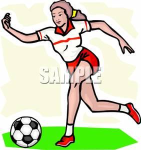 Girl hitting soccer ball clipart png free stock Girl Kicking Soccer Ball Clip Art | Clipart Panda - Free Clipart ... png free stock