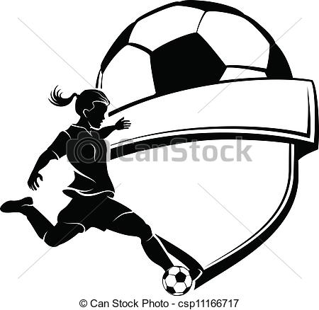 Girl hitting soccer ball clipart graphic library download Soccer Clip Art and Stock Illustrations. 75,421 Soccer EPS ... graphic library download
