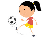 Girl hitting soccer ball clipart png royalty free Free Sports - Soccer Clipart - Clip Art Pictures - Graphics ... png royalty free
