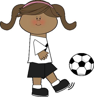 Girl hitting soccer ball clipart clip art royalty free library Girl hitting soccer ball clipart - ClipartFest clip art royalty free library