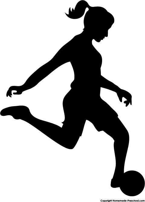 Girl hitting soccer ball clipart jpg transparent download Girls Soccer Silhouette Clipart | Soccer Quilts | Pinterest ... jpg transparent download