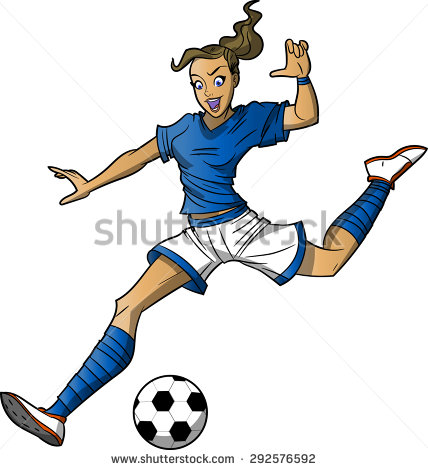 Girl hitting soccer ball clipart banner freeuse library Soccer player kicking ball clipart girl - ClipartFox banner freeuse library