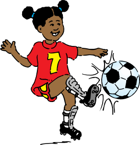 Girl hitting soccer ball clipart vector royalty free download Soccer Player Clipart & Soccer Player Clip Art Images - ClipartALL.com vector royalty free download