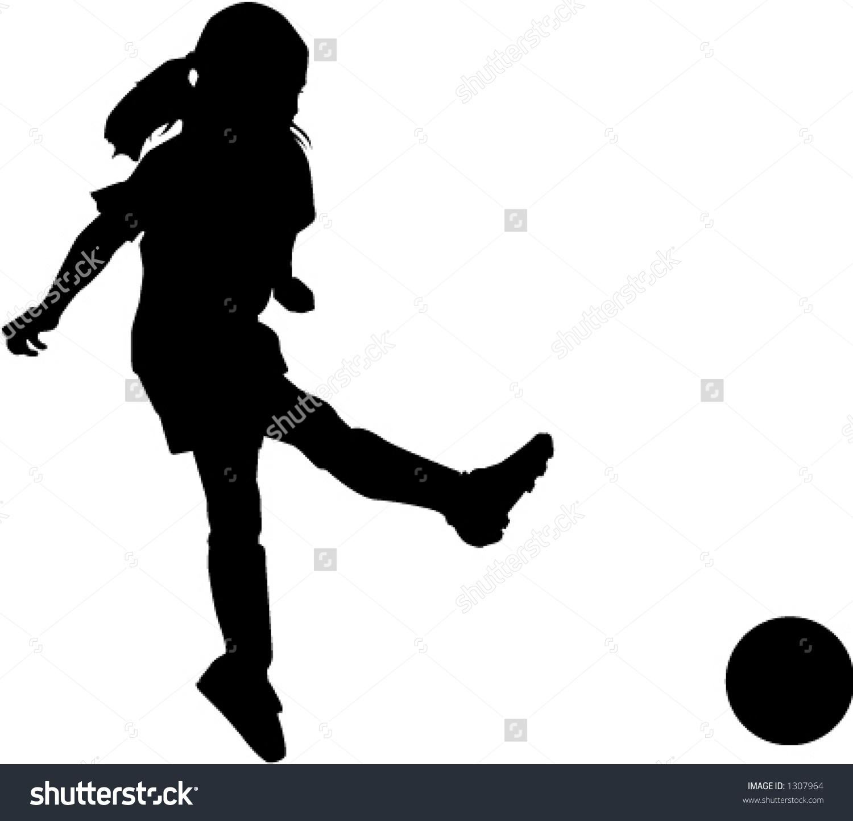 Girl hitting soccer ball clipart vector black and white Girl hitting soccer ball clipart - ClipartFox vector black and white