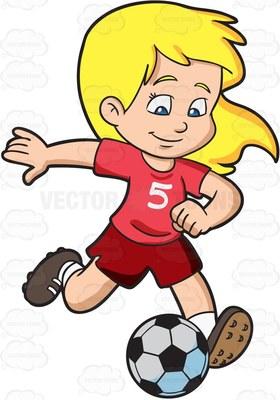 Girl hitting soccer ball clipart clipart transparent stock kicking Cartoon Clipart clipart transparent stock