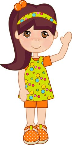 Clipart girl vector freeuse 583 Best BIG girl clipart images in 2019 | Girl clipart, Rag dolls ... vector freeuse