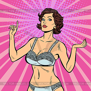 Girl in lingerie clipart clip freeuse stock Beautiful woman in lingerie underwear undergarment - color vector ... clip freeuse stock