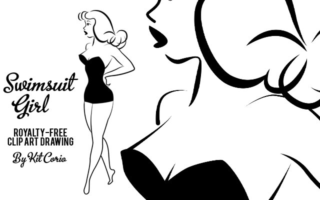 Girl in lingerie clipart banner free library Retro Vintage Clip Art - Woman | Clipart Panda - Free Clipart Images banner free library
