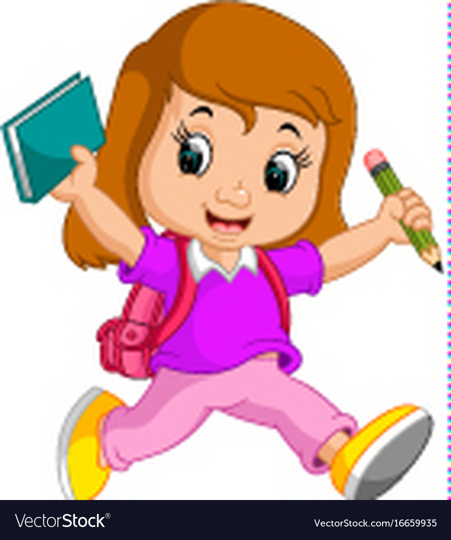 Girl in school clipart svg library library Girl go to school clipart 5 » Clipart Station svg library library