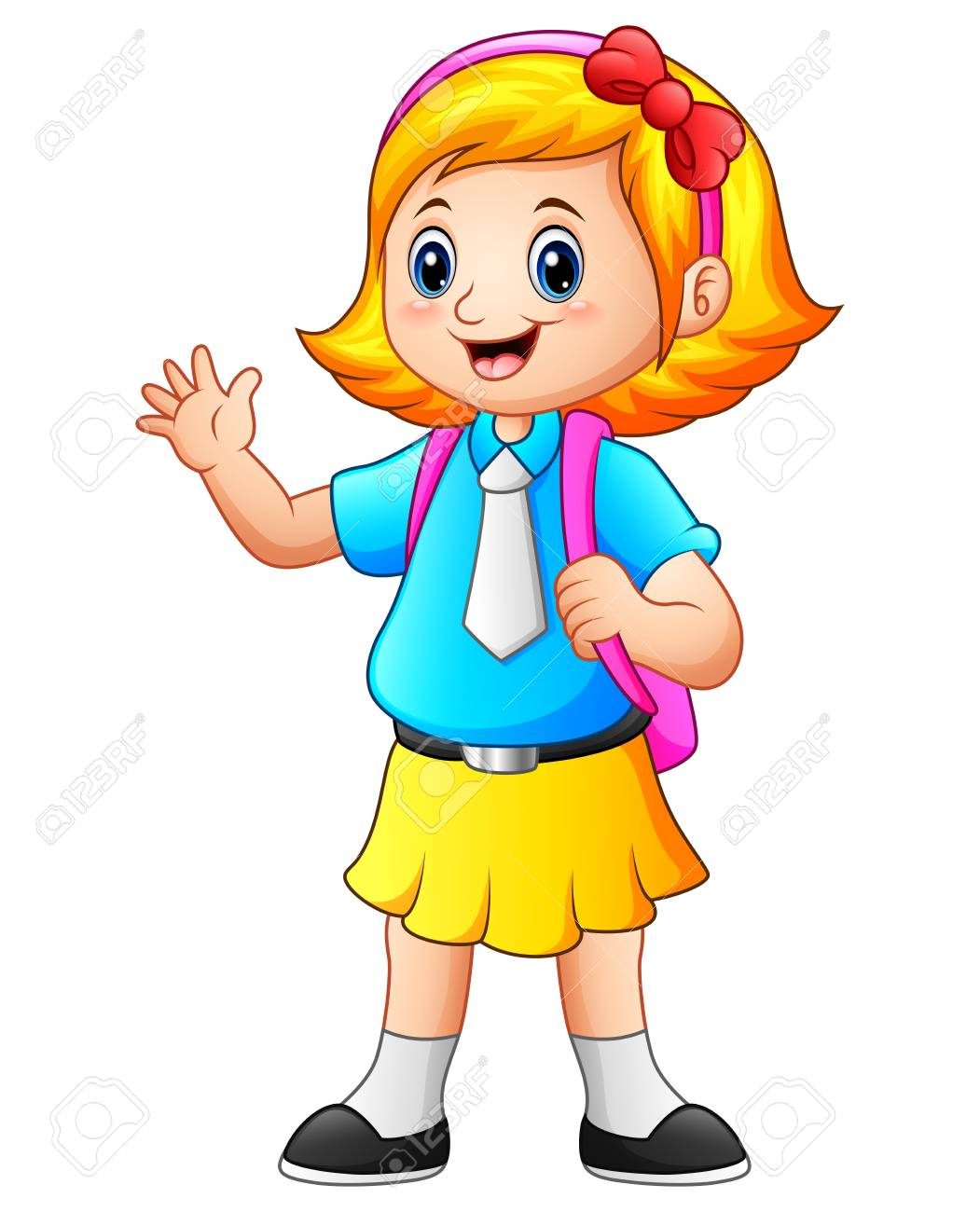 Girl in school clipart graphic black and white stock Girl go to school clipart 8 » Clipart Station graphic black and white stock
