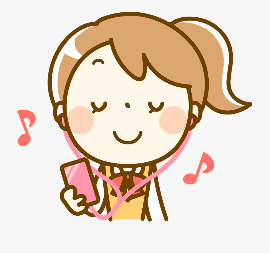Girl listening to music clipart picture transparent Listening To Music Png - Girl Listening To Music Clipart #11599 ... picture transparent