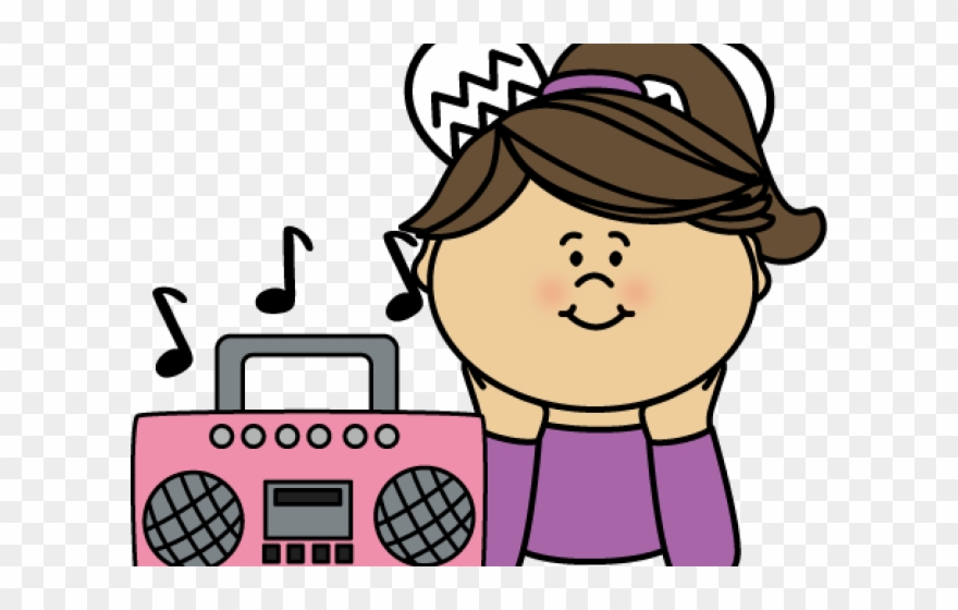 Girl listening to music clipart banner freeuse stock Listening To Music Clipart - Boom Box Clip Art - Png Download ... banner freeuse stock