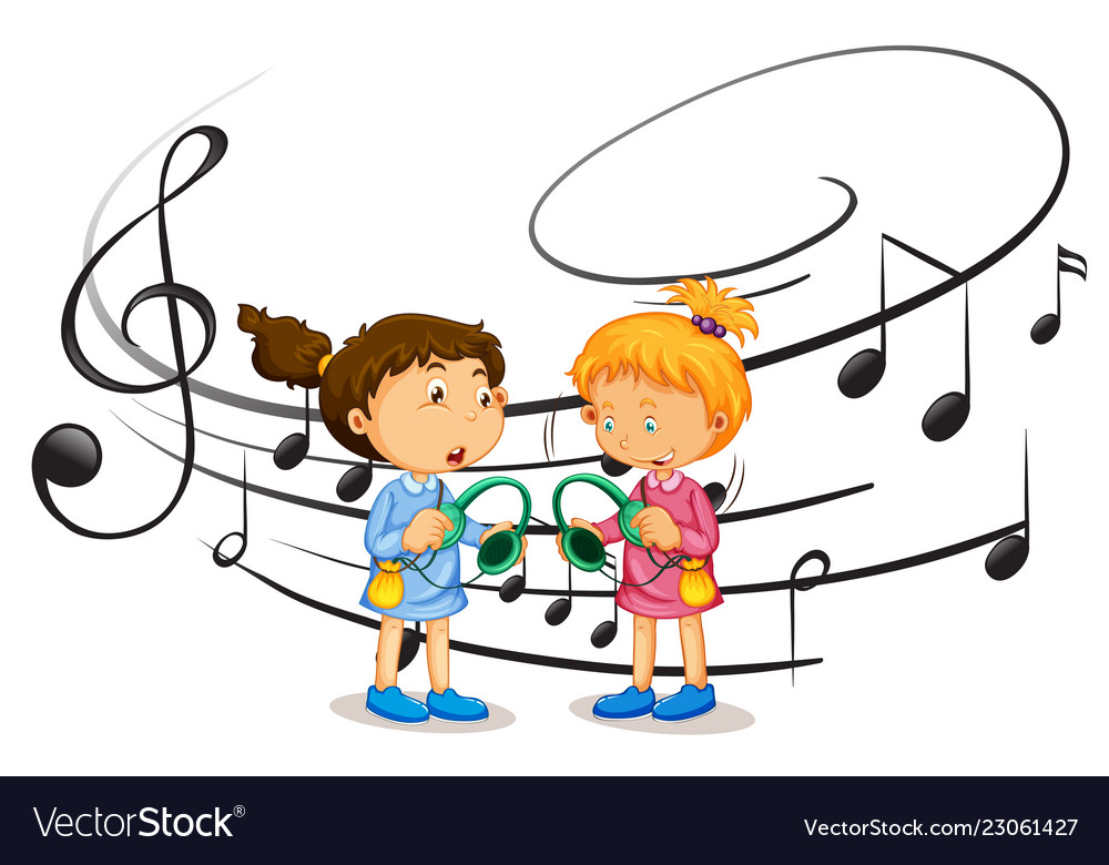 Girl listening to music clipart png freeuse download Girls listening to music png freeuse download