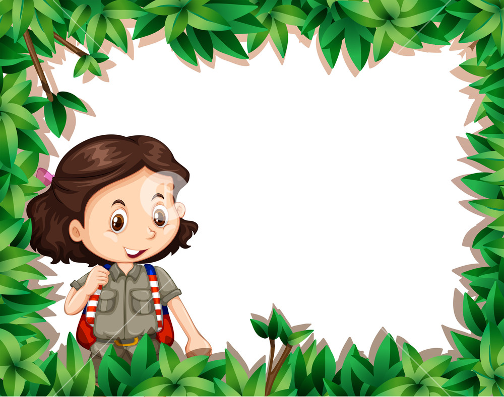 Girl looking through binoculars girl scouts clipart graphic free download GIrl scout in nature frame Royalty-Free Stock Image - Storyblocks Images graphic free download