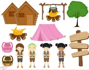 Free camping clipart images vector black and white download Girl Camping Clip Art 21 Camping Clipart Free | girl scout clipart ... vector black and white download