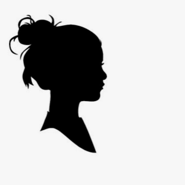 Girl looking to the right clipart picture royalty free Free Silhouette Of Girl Looking Up, Download Free Clip Art, Free ... picture royalty free