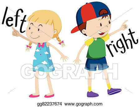 Girl looking to the right clipart clipart royalty free library Vector Stock - Girl on the left and boy on the right. Clipart ... clipart royalty free library