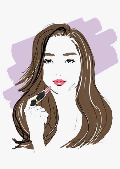 Girl make up clipart graphic black and white download Girl Makeup Png & Free Girl Makeup.png Transparent Images #19108 - PNGio graphic black and white download