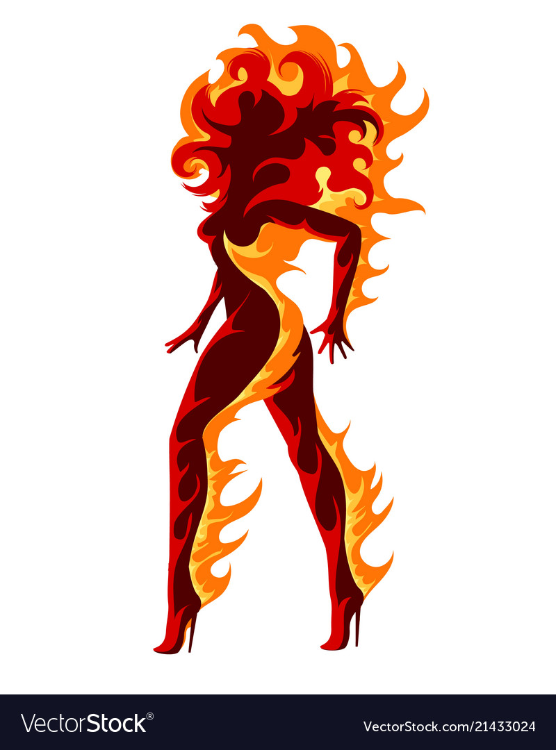 Girl on fire clipart clipart free Fiery girl clipart free