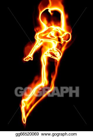 Girl on fire clipart transparent download Stock Illustrations - Fire girl. Stock Clipart gg66520069 - GoGraph transparent download
