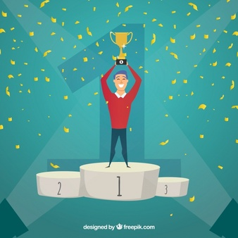 Girl on stage holding a winning trophy clipart picture transparent library Winner Vectors, Photos and PSD files | Free Download picture transparent library