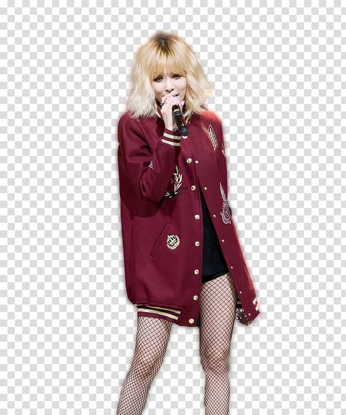 Girl on stage holding a winning trophy clipart image black and white Hyuna, woman holding microphone while talking transparent background ... image black and white