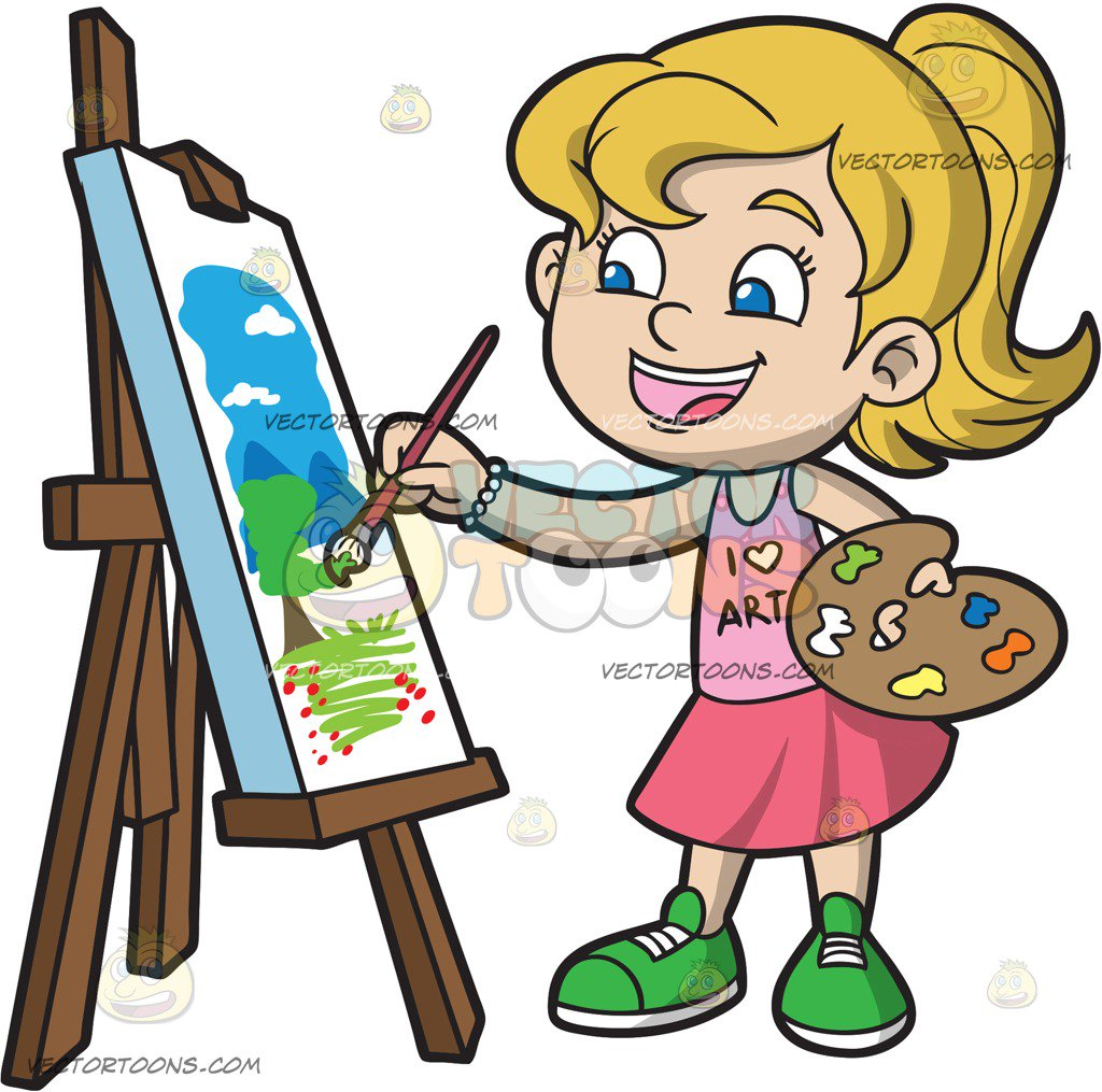 Woman painting clipart clipart freeuse library Landscape Cartoon Pictures | Free download best Landscape Cartoon ... clipart freeuse library