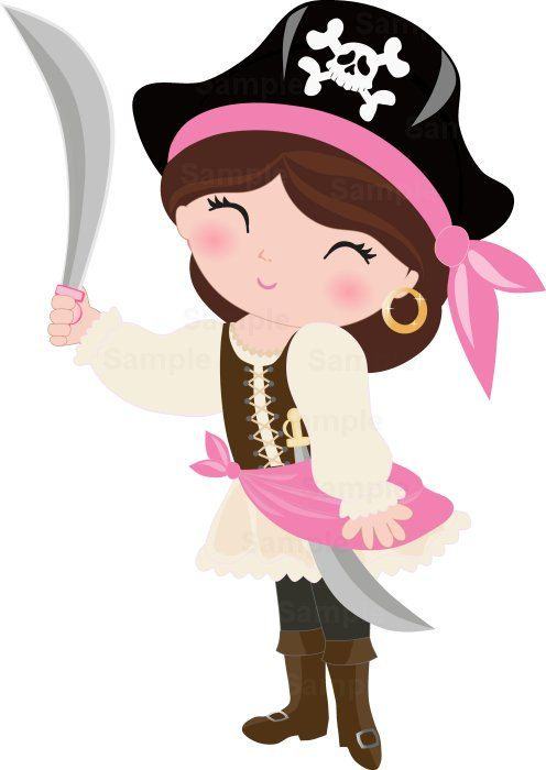 Infantiles clipart jpg transparent library Pirate Girls Clip Art Set | Clipart | Chicas piratas, Piratas y ... jpg transparent library