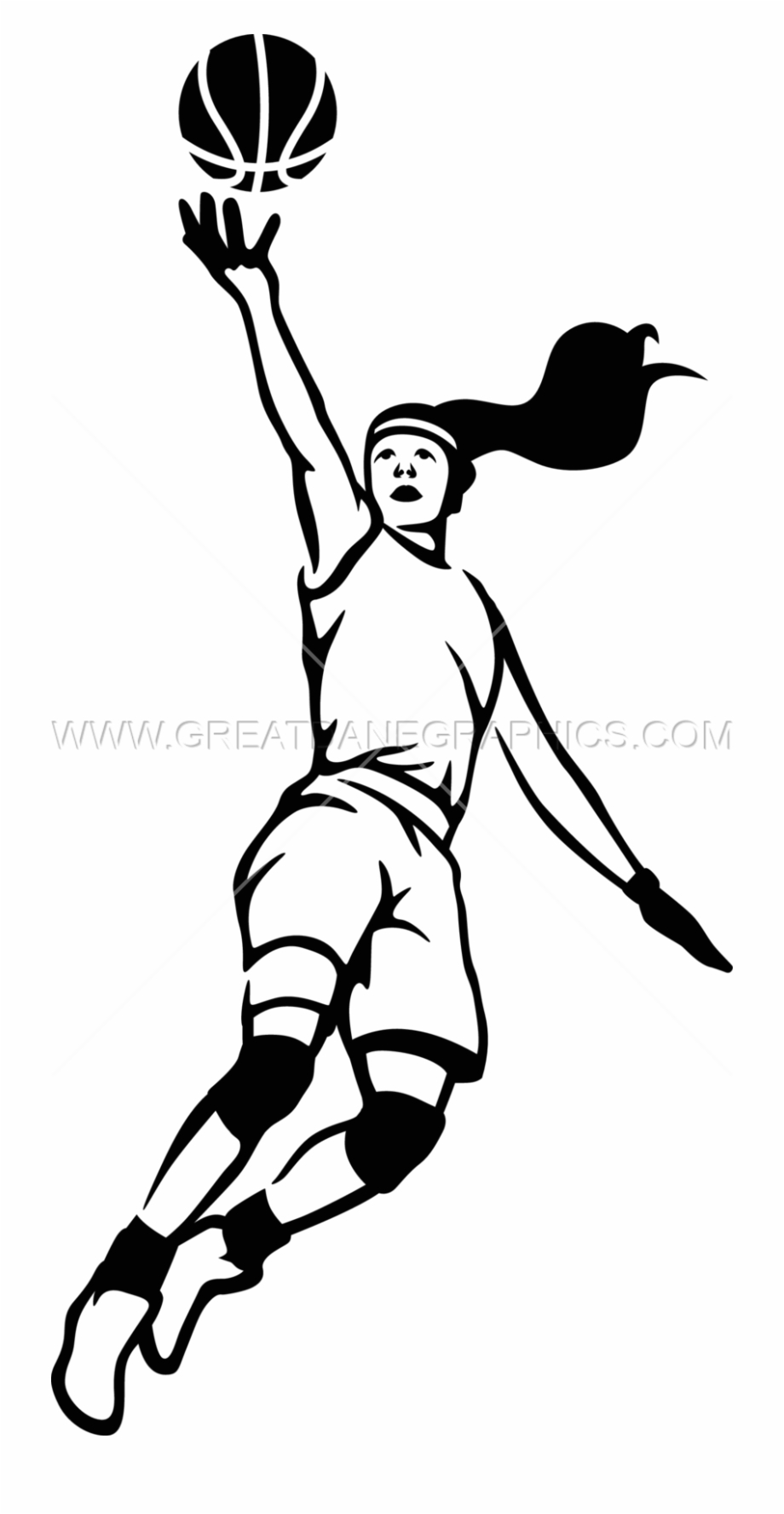 Girl player basketball clipart black and white vector library Clip Art Freeuse Stock Girls Download Best X Craft - Girls ... vector library