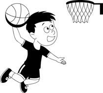 Girl player basketball clipart black and white clipart black and white download Free Black and White Sports Outline Clipart - Clip Art Pictures ... clipart black and white download