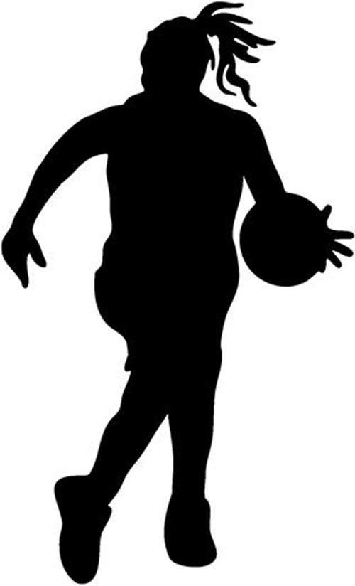 Girl player basketball clipart black and white graphic free download Black And White Basketball Clipart | Free download best Black And ... graphic free download