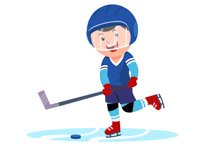 Girl playing hockey clipart black and white Sports Clipart - Free Hockey Clipart to Download black and white