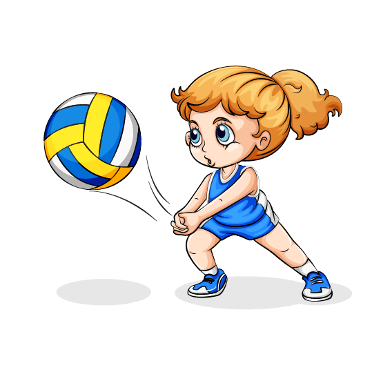 Girls and boys playing basketball clipart clip freeuse library Volleyball Play Girl Clip art - Volleyball Players 568*565 ... clip freeuse library