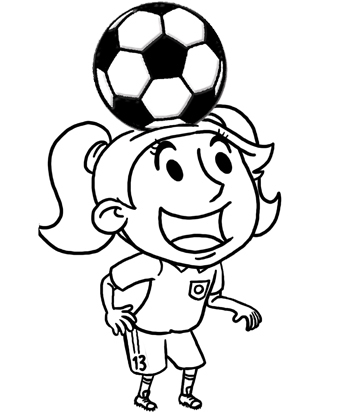Girl playing socer clipart black and whit transparent stock Free Girl Soccer Pictures, Download Free Clip Art, Free Clip Art on ... transparent stock
