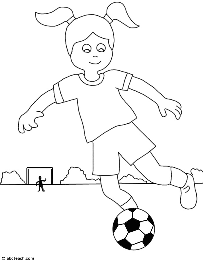 Girl playing socer clipart black and whit vector stock Cartoon De CiK: girl soccer player clipart vector stock