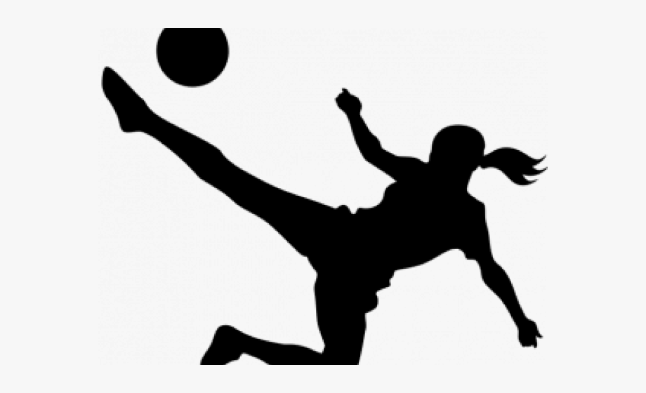 Girl playing socer clipart black and whit banner library library Clipart Wallpaper Blink - Girl Kicking Soccer Ball Clip Art #2571022 ... banner library library