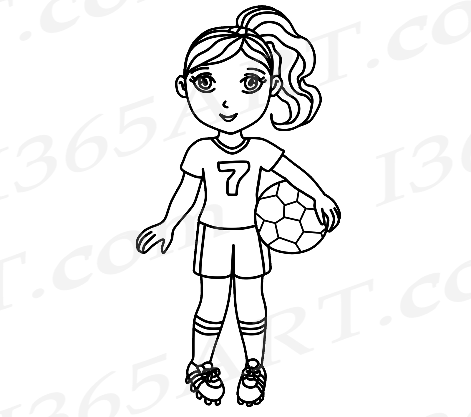 Girl playing socer clipart black and whit svg free library Soccer Clipart, Pink Soccer Girl Clipart, Sports Clip Art, Pink Team, World  Cup, Olympics, Soccer Team, Planner Stickers, African American svg free library