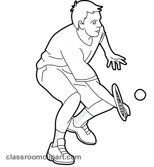 Girl playing tennis clipart black and white clip black and white Free Man Tennis Cliparts, Download Free Clip Art, Free Clip Art on ... clip black and white