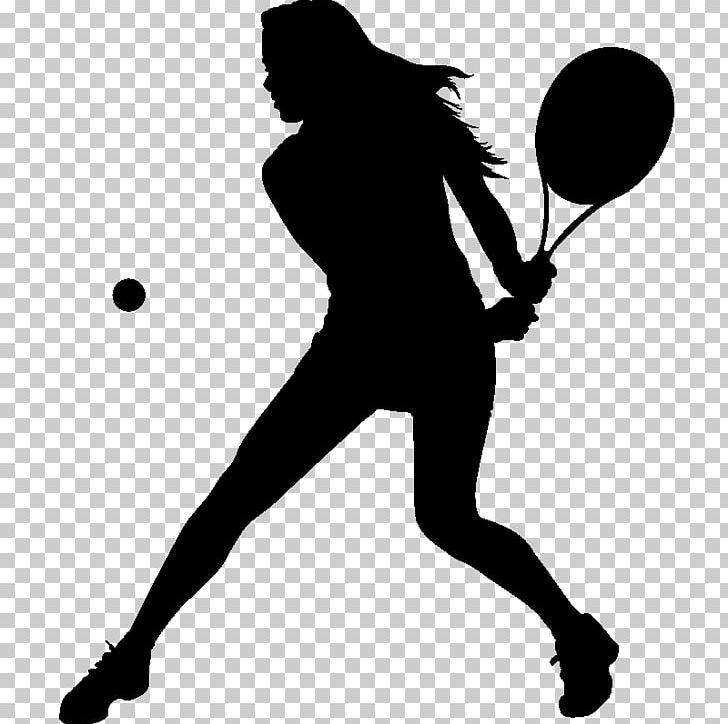 Girl playing tennis clipart black and white clip download Tennis Girl Racket Silhouette PNG, Clipart, Arm, Black, Black And ... clip download