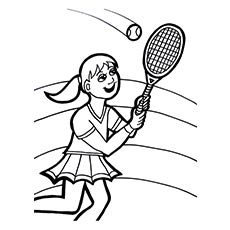Girl playing tennis clipart black and white svg black and white download Tennis Black And White | Free download best Tennis Black And White ... svg black and white download