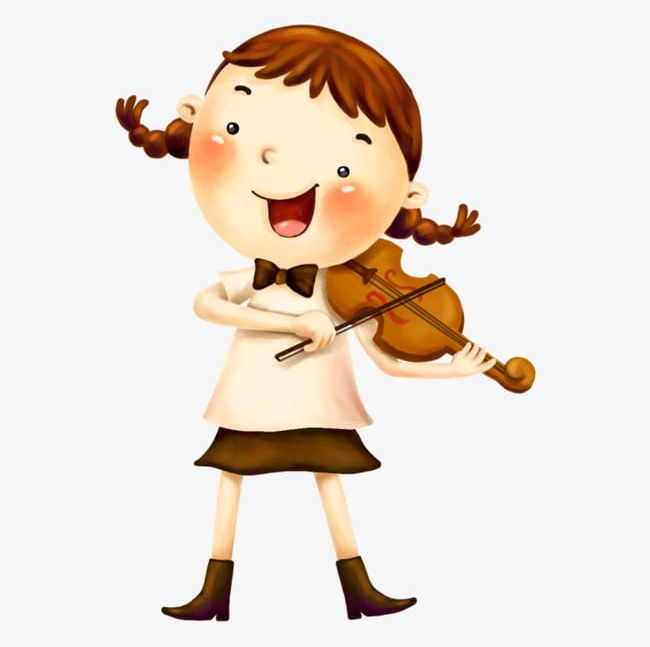 Girl playing the violin clipart svg library The Girl Playing The Violin PNG, Clipart, Cartoon, Decoration ... svg library