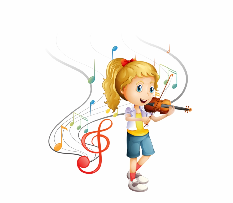 Girl playing the violin clipart clip art black and white stock Personnages, Illustration, Individu, Personne, Gens - Cartoon Girl ... clip art black and white stock