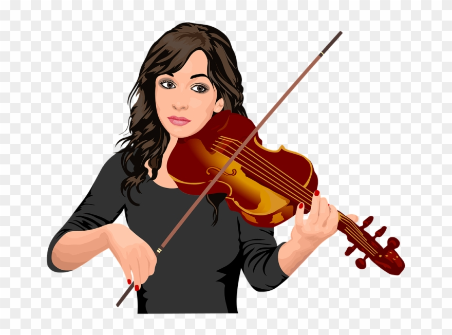 Girl playing the violin clipart vector transparent library Why Every Person Should Play The Violin Drum Clip Art - Girl Playing ... vector transparent library