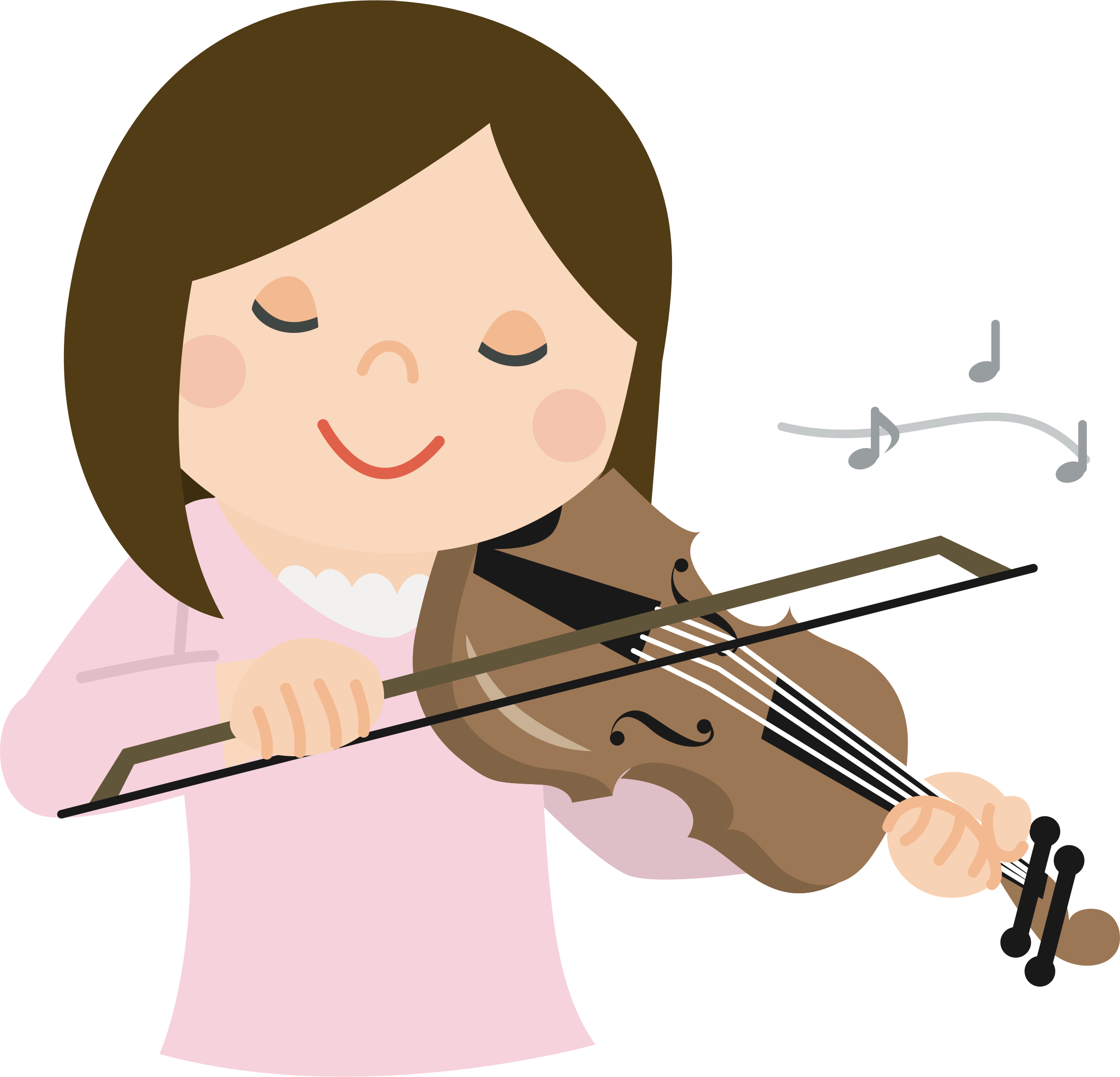 Girl playing the violin clipart clipart free stock Girl playing violin clipart clipart images gallery for free download ... clipart free stock